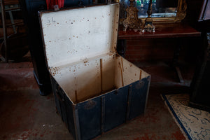 Antique French Malard Paris Steamer Trunk