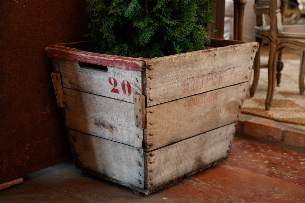 Large French Wooden Grape Harvest Crates