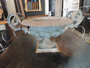 Ornate French Cast Iron Urn