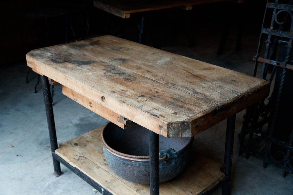 French Industrial Workroom Bench