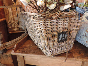 French Factory Wicker Basket