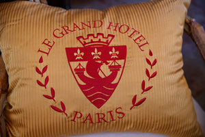 Vintage Le Grand Hotel Paris Cushions