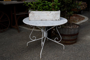 French Iron Mesh Topped Garden Table