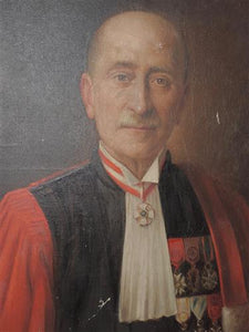 French Oil Canvas - Portrait French Mayor