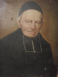 French Oil Canvas - Portrait Priest