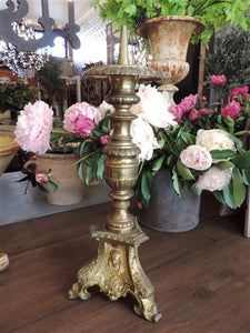 French Brass Candlestick