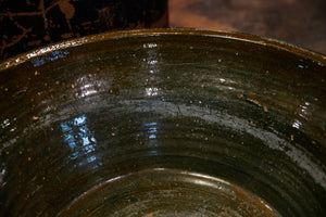 French Terracotta Bowl - Green Glaze