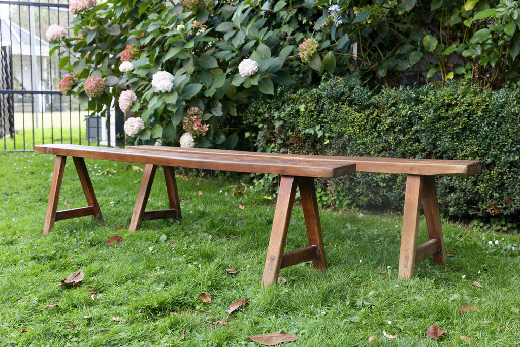 French Farmhouse Cherrywood Bench Seats