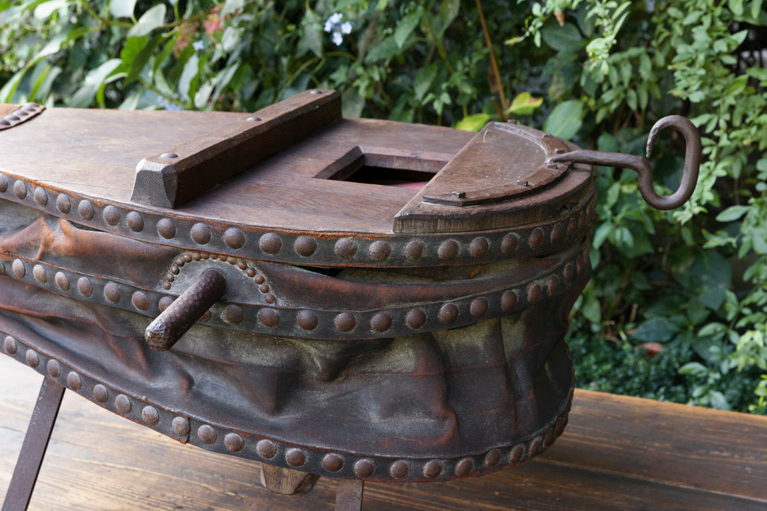 XL 1940's French Blacksmiths Bellows/Coffee Table