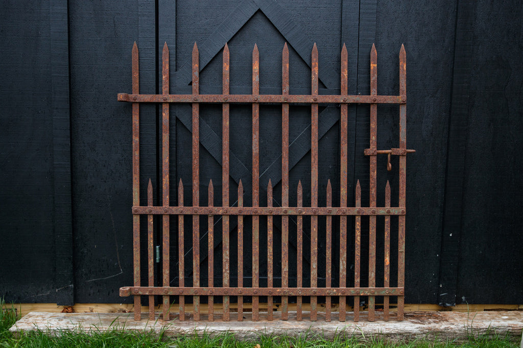 Vintage Iron French Farmhouse Gate
