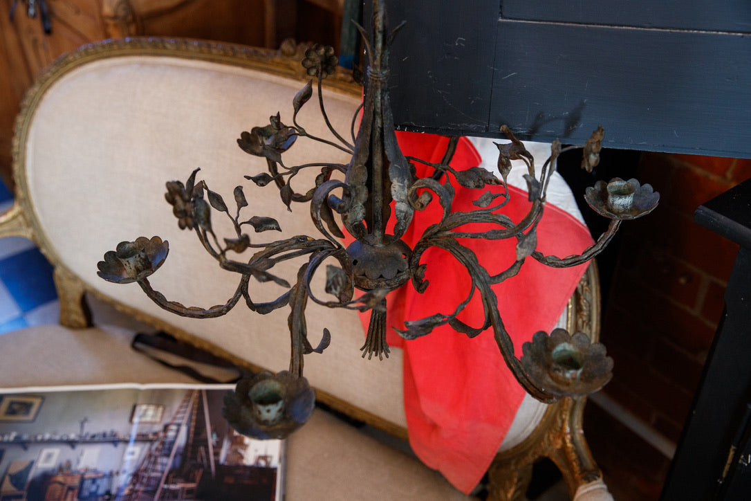 French 19th Century Wrought Iron Candelabra
