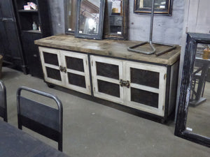 French Industrial & Wooden Console