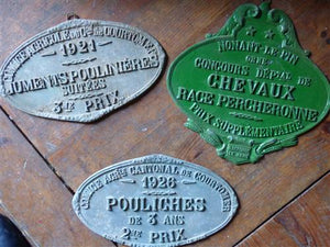 French Metal Prize Plates