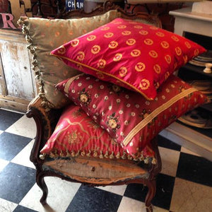 Vintage French Silk Cushions