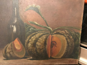 French Still Life Canvas - Pumpkin
