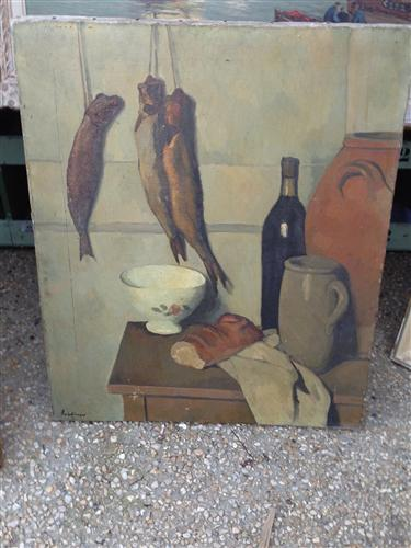 French Still Life Canvas