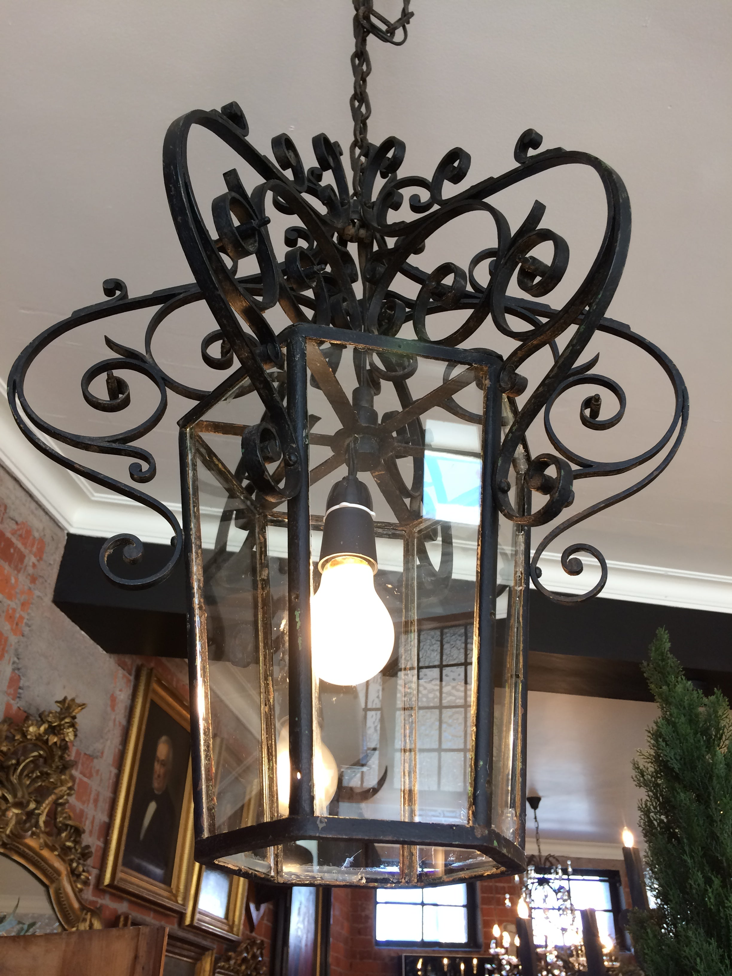 19th Century Wrought Iron Light