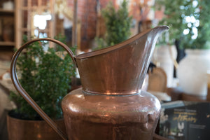 Large French Copper & Brass Pitcher