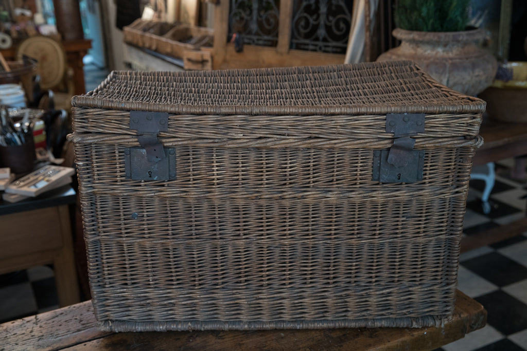 Vintage French Cane Hamper