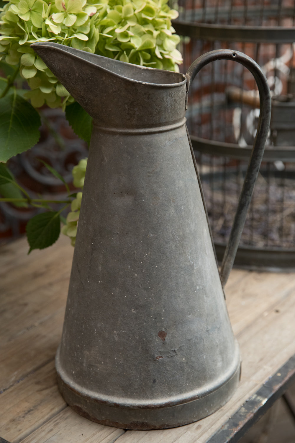 Vintage French Zinc Jug
