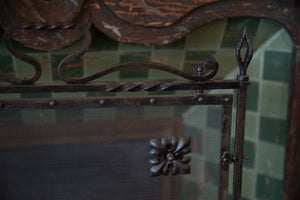French Wrought Iron Fire Screen