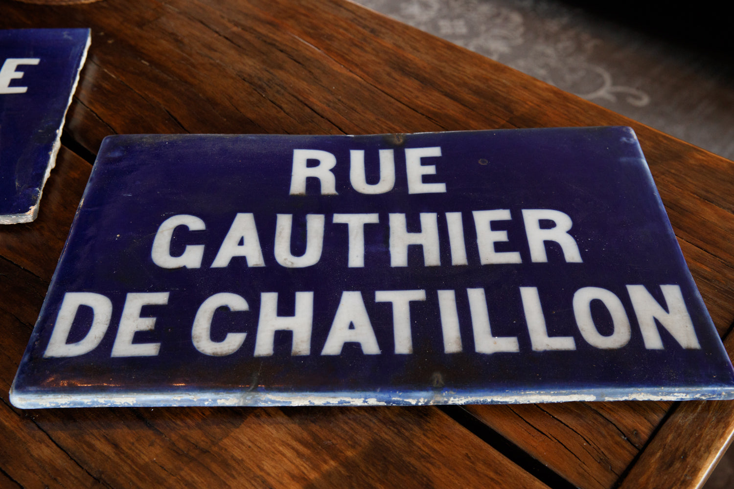 19th Century French Stone Street Signs