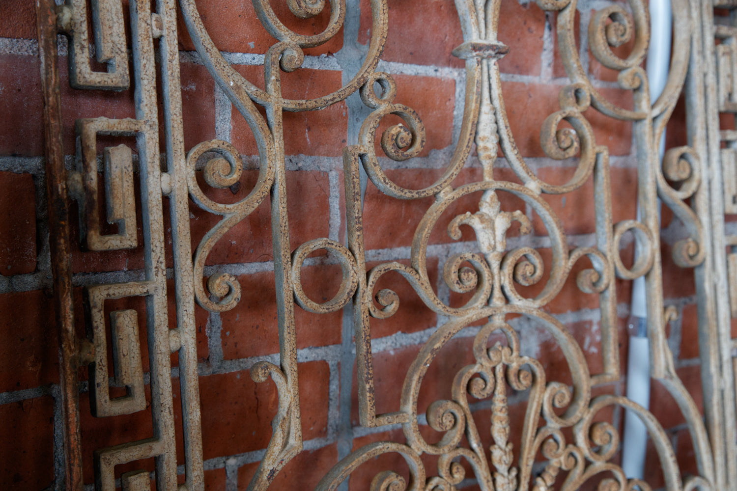 19th Century French Wrought Iron Grills