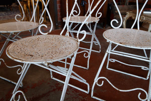 French Iron Garden Chairs