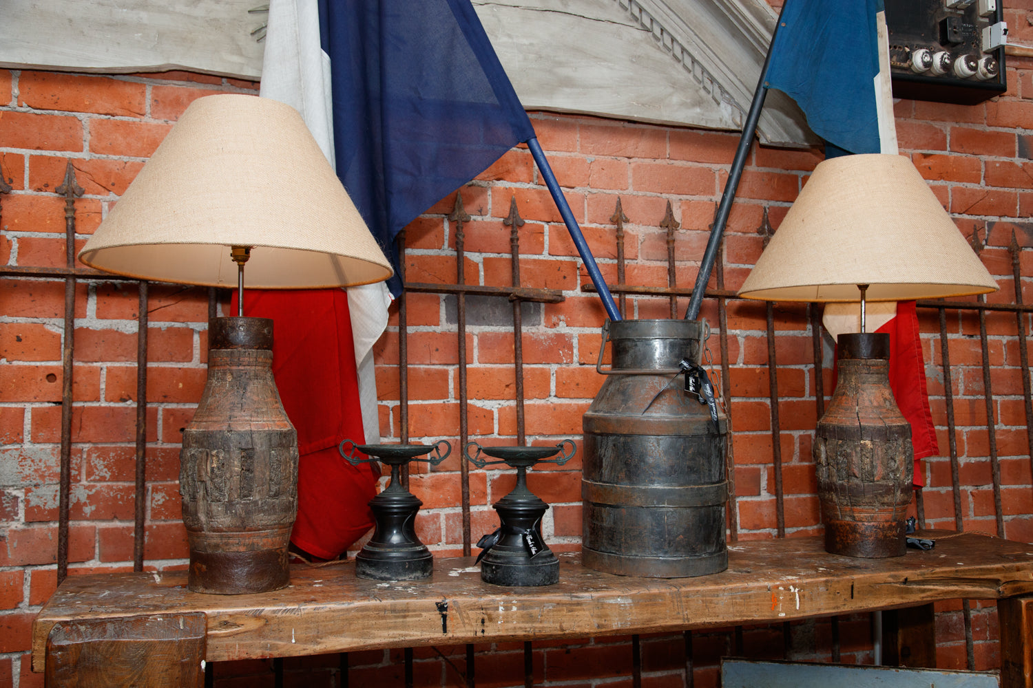 19th Century Sicilian Cart Axle Lamps