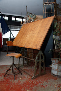 Original 1930's Industrial Architect Table
