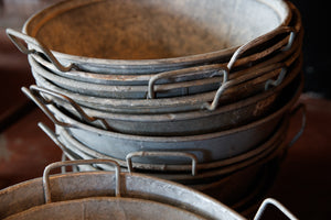 Vintage French Zinc Pans