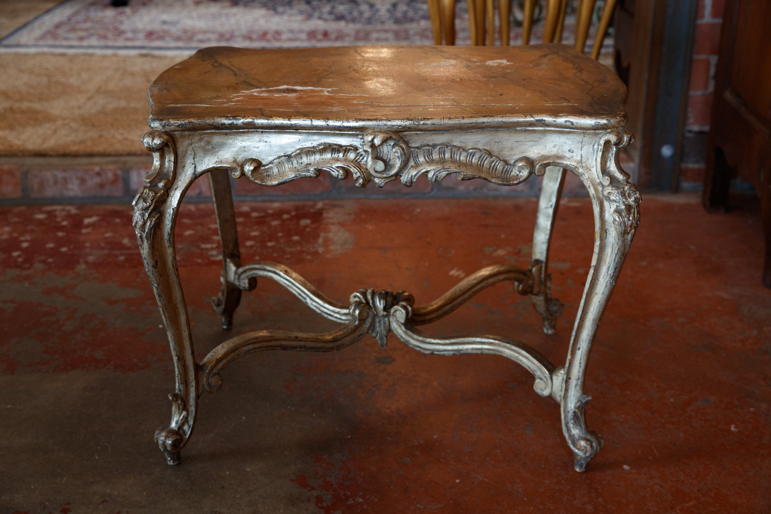 Italian Silver & Gold Gilded Table