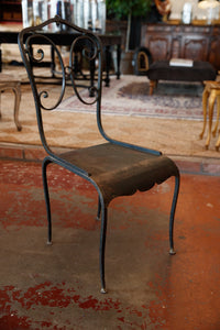 French Wrought Iron Chairs