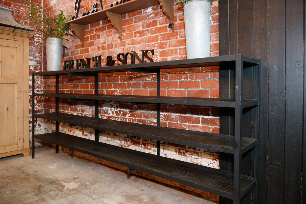 French Black Industrial Shelving