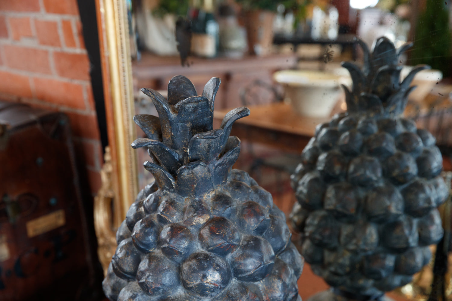 French Cast Iron Pineapple Finials