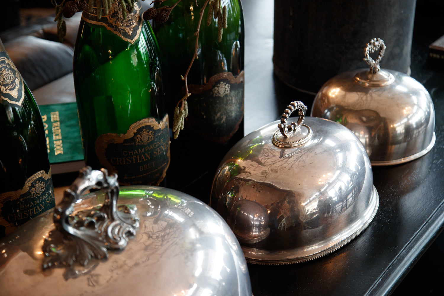 Vintage French Silver Plated Domes