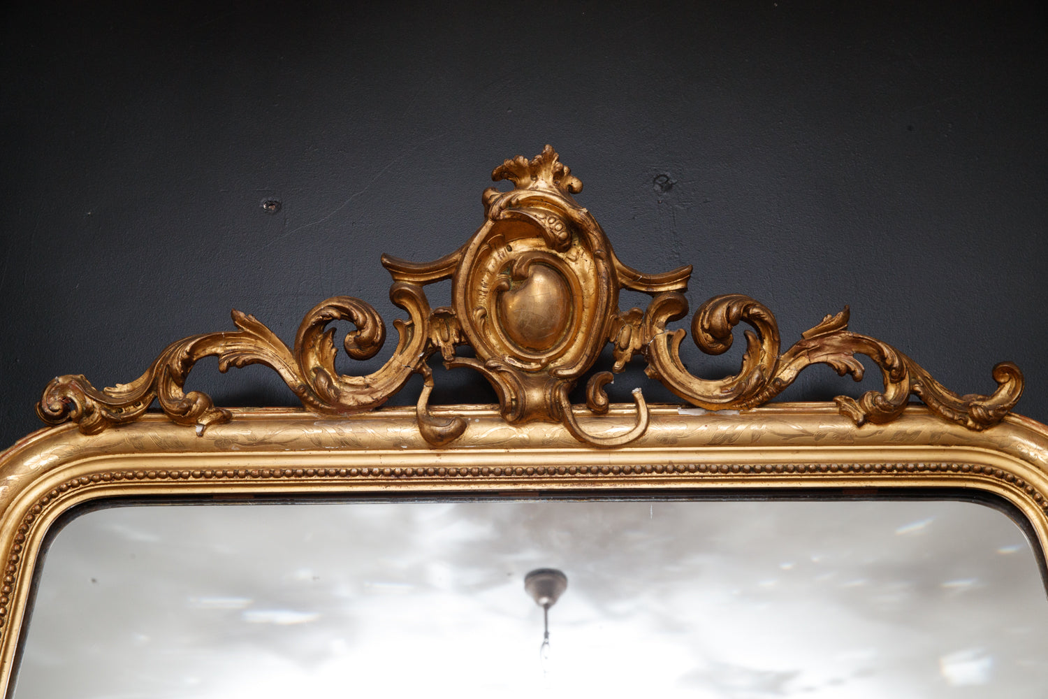 French 19th Century Gold Gilt Mirror