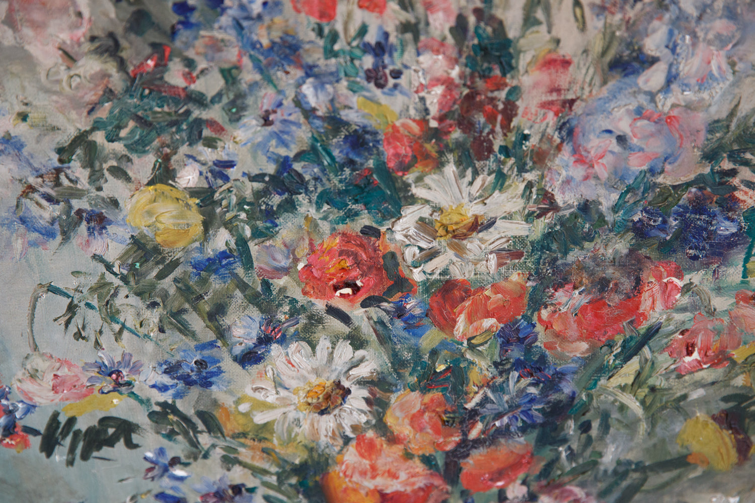 French Flower Oil Canvas On Board