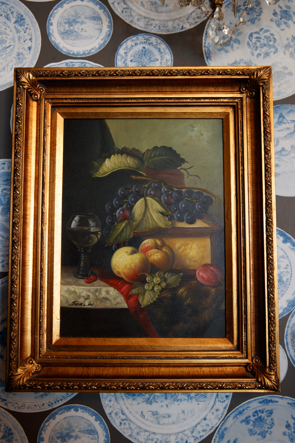 French Oil Canvas- Grapes