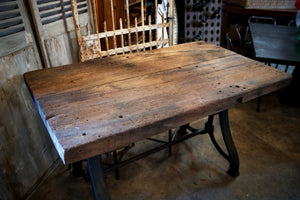 1940's French Industrial Workroom Table