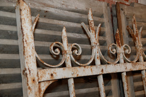 French Wrought Iron Gate - White Patina