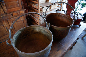 19th Century French Copper Cauldrons
