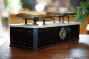 French Marble & Brass Scales