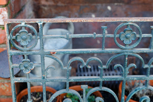 French Green Wrought Iron Grill