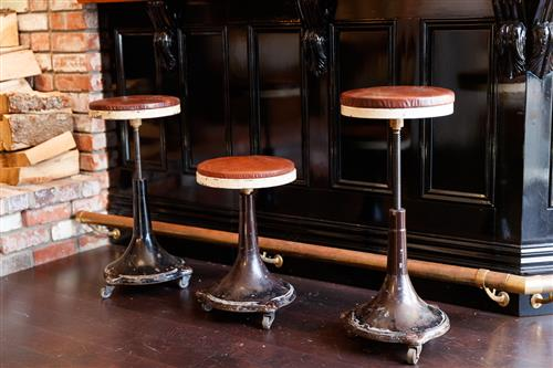 Original 1920's French Factory Stools