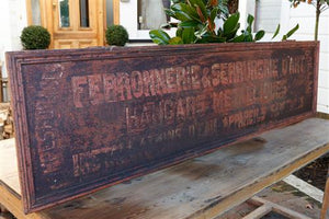 French 1920's Industrial Steel Shop Sign