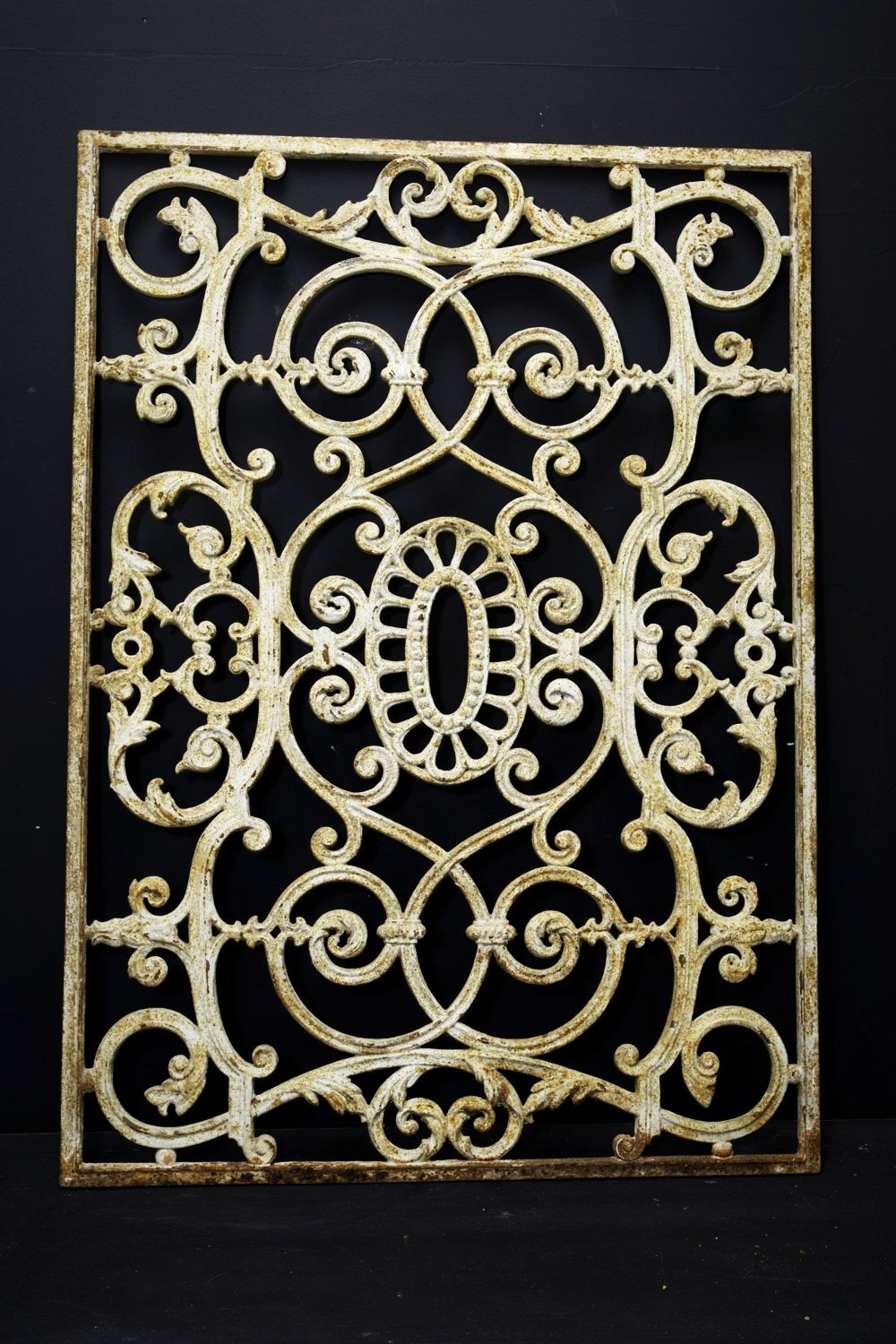 French Wrought Wrought Iron Grill -No 16