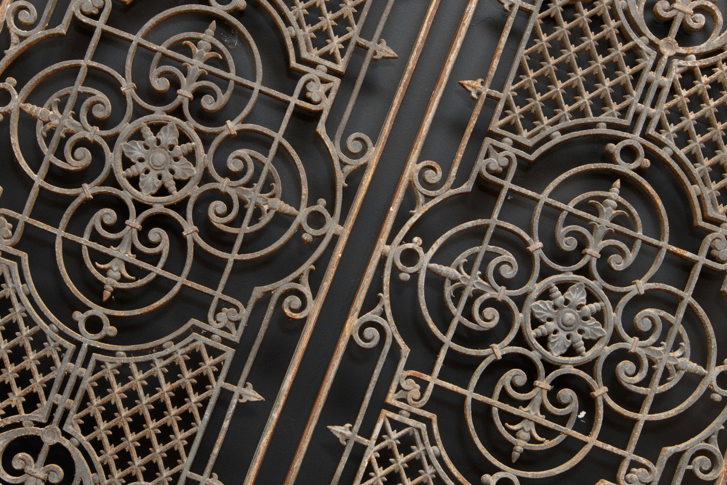Pair French Wrought Iron Grills