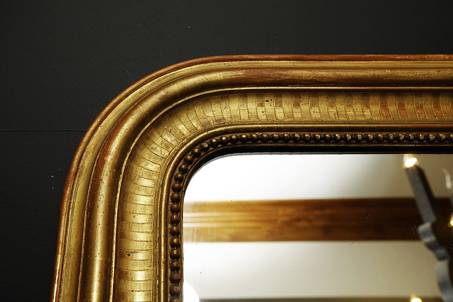 French Gold Gilt Mirror