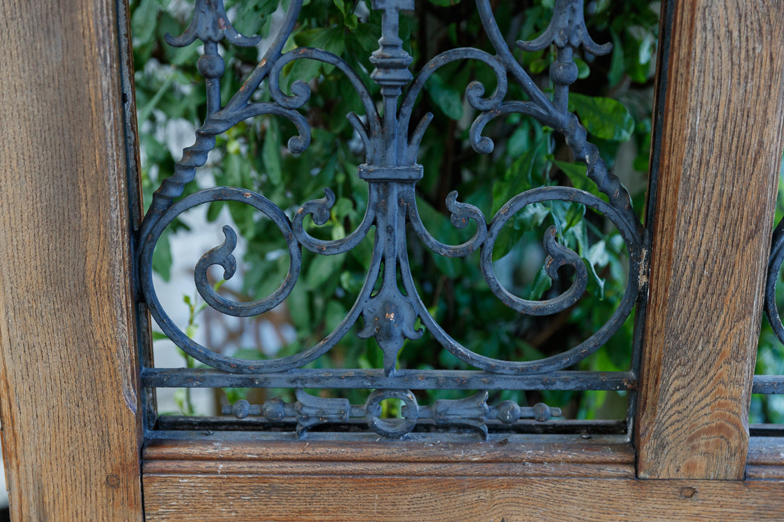 French Wrought Iron Door- Double Grill